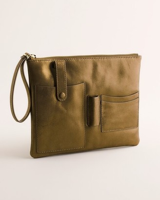 Chico's Bronze-Leather Pouch