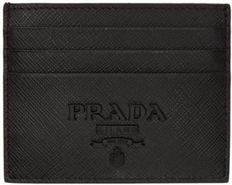 Prada Black Monochrome Card Holder