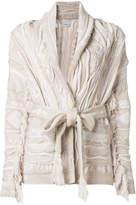 Laneus chunky knit cardi-coat