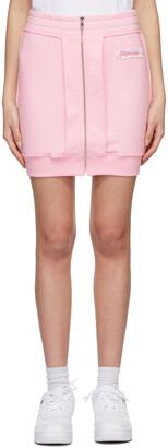 Moschino Pink Fleece Inside Out Label Miniskirt