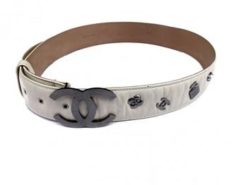 Chanel Ecru Leather Belts