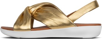 FitFlop Twyla Metallic Leather Back-Strap Sandals
