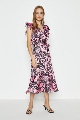 Coast Midi Ruffle Wrap Dress