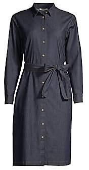 Peserico Women's Belted Denim Shirtdress