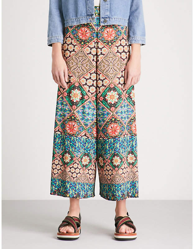 Alice + Olivia Alice & Olivia Sherice wide legged embroidered trousers