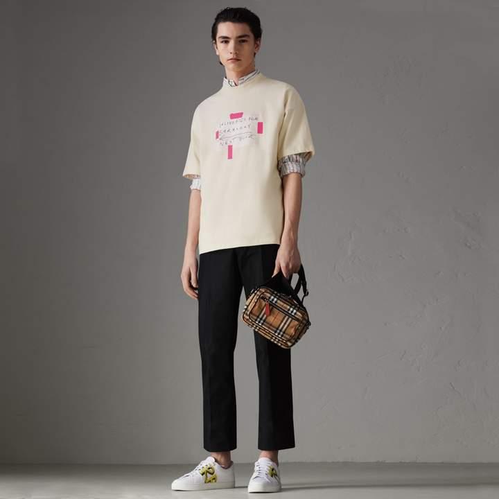 Burberry Sign Print Cotton T-shirt