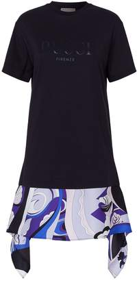 Emilio Pucci Silk-Trim T-Shirt Dress