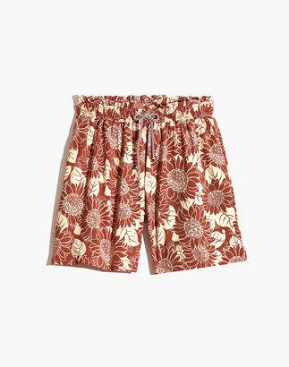 Madewell Second Wave Board Shorts in Sunflower Season