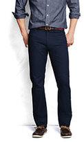 Lands' End Men's Pre-hemmed 5-pocket Straight Fit Twill Pants-Faded Navy