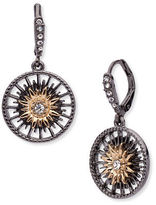 Jenny Packham Hematite & 9K Goldplated Drop Earrings