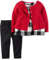 Carter's 3-Pc. Cardigan, Tunic & Leggings Set, Baby Girls (0-24 months)