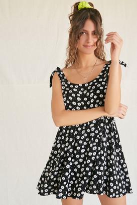 Forever 21 Floral Pin Dot Babydoll Dress