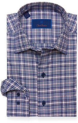 David Donahue Casual Plaid Shirt