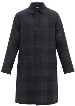 Marni Checked Wool Raincoat - Black