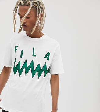 Fila Cal graphic t-shirt in white exclusive at ASOS