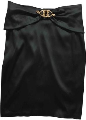 Roberto Cavalli Black Silk Skirt for Women