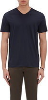 Vince Men's Pima Cotton V-Neck T-Shirt-NAVY