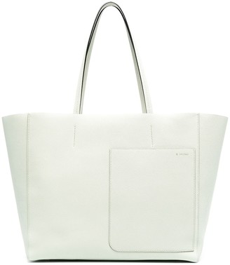 Valextra Textured Leather Bag With Off-Centre Front Patch Pocket