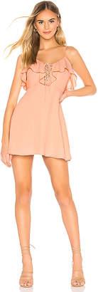 superdown Whitney Ruffle Lace Up Dress