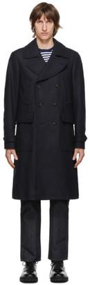 Belstaff Navy Wool Milford Coat