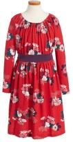 Tea Collection Kata Obi Floral Print Dress (Toddler Girls, Little Girls & Big Girls)