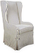 Somerset Bay Fisher Wingback Side Chair - Navy Stripe
