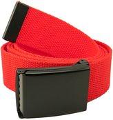 Build A Belt Wide 1.5 Black Flip Top Men's Belt Buckle with Canvas Web Belt X-Large