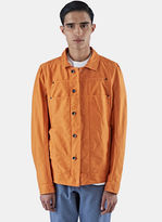 Rick Owens Drkshdw Men's Cotton Twill Lab Jacket In Orange