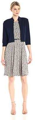 Jessica Howard JessicaHoward Women's Mandarin Collar Jacket Dress