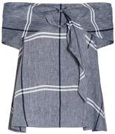 Suno Chambray Off-Shoulder Top
