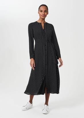 Hobbs Thea Spot Midi Shirt Dress