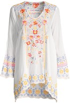 Johnny Was Rosetta Embroidered Tunic