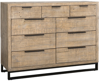Classic Home By Kosas Home Norton Reclaimed Pine 9 Drawer Dresser