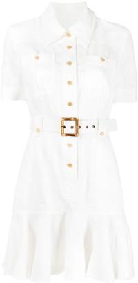 Zimmermann Belted Button-Up Mini Dress