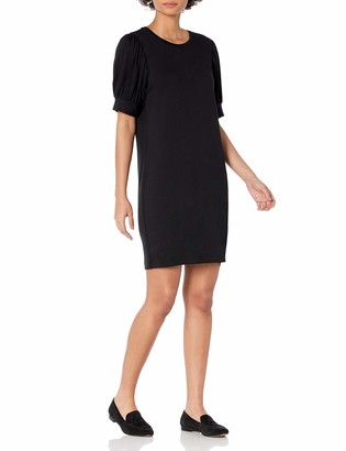 Daily Ritual Amazon Brand Women's Supersoft Terry Relaxed-Fit Puff-Sleeve Dress