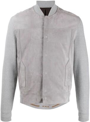 Ermenegildo Zegna Xxx Knitted Sleeved Bomber Jacket
