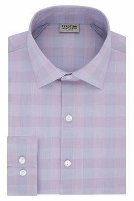 Kenneth Cole Reaction Men's Dress Shirt Technicole Slim Fit Check
