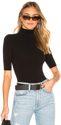 Commando Ballet Shortsleeve Turtleneck Bodysuit