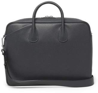 Valextra My Logo Grained-leather Briefcase - Mens - Black
