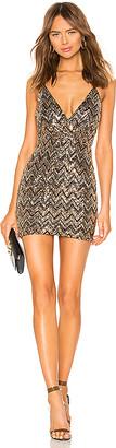 superdown Erin Sequin Surplice Dress