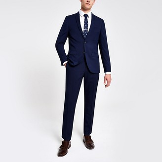 River Island Navy skinny suit trousers