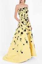 Oscar de la Renta Strapless Beaded Gown