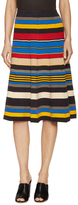 Tracy Reese Gored Cotton Striped A Line Skirt