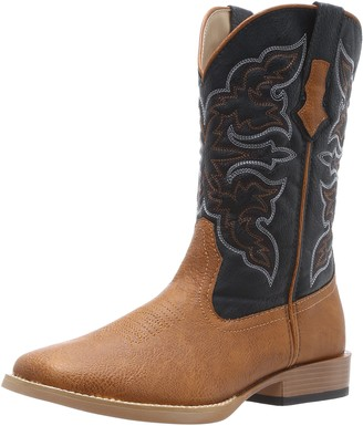 Roper Men's Square Toe Cowboy Boot Tan 10 D - Medium