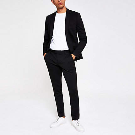 River Island Black super skinny suit trousers