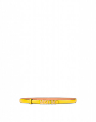 Moschino Belt With Mini Lettering Logo Woman Yellow Size 38 It - (4 Us)