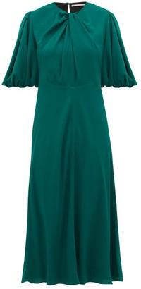 Emilia Wickstead Magnolia Georgette Dress - Womens - Dark Green