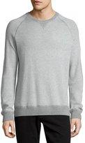 Vince Birdseye Crewneck Sweatshirt, Heather Steel