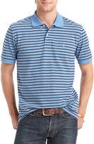 Izod Short-Sleeve Striped Piqu Polo