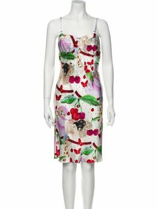 John Galliano Vintage Knee-Length Dress White